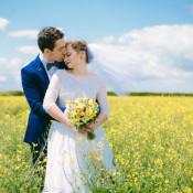Crafty Yellow Vintage Village Hall Wedding