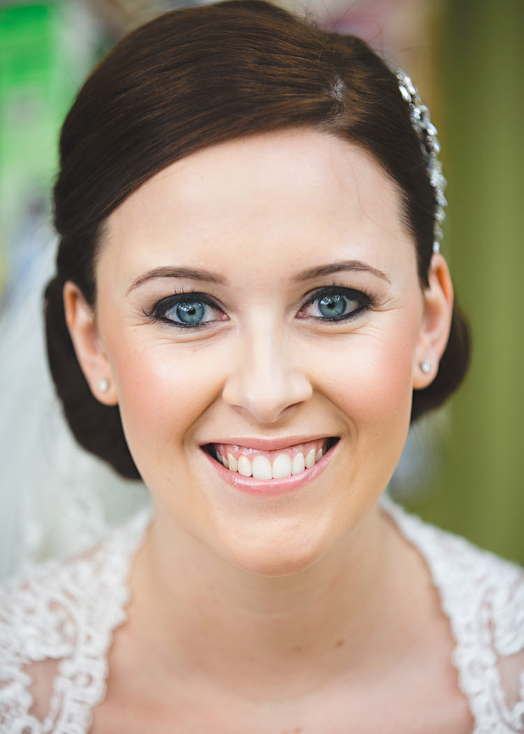 Bride Bridal Make Up Beautiful Pretty Natural Pale Pink & Lace Farm Wedding http://hbaphotography.com/