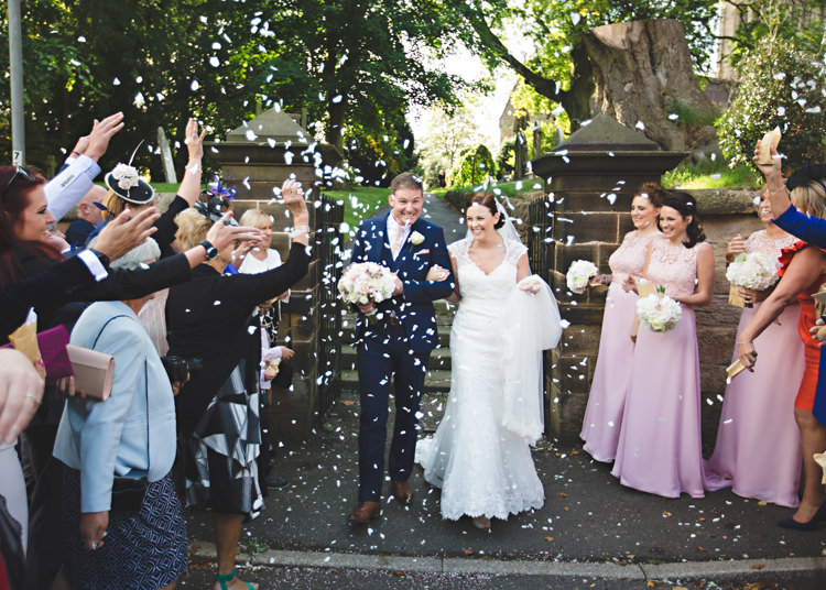 Confetti Throw Pale Pink & Lace Farm Wedding http://hbaphotography.com/