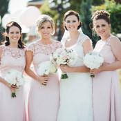 Pale Pink & Lace Farm Wedding