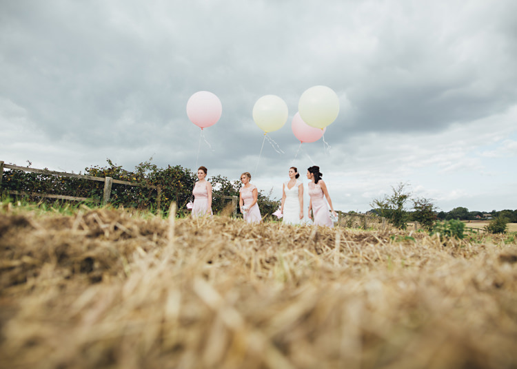 Balloons Pale Pink & Lace Farm Wedding http://hbaphotography.com/