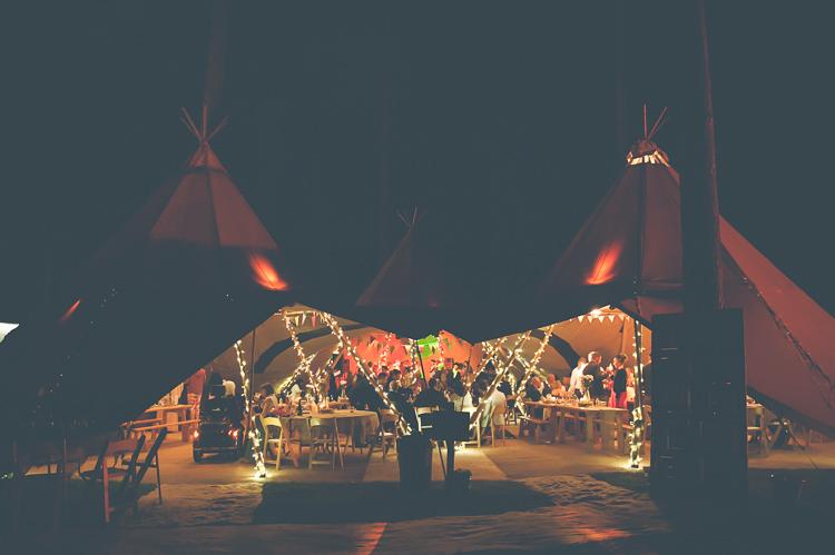 Tipi Fairy Lights Quirky Natural Woodland Wedding http://lisahowardphotography.co.uk/