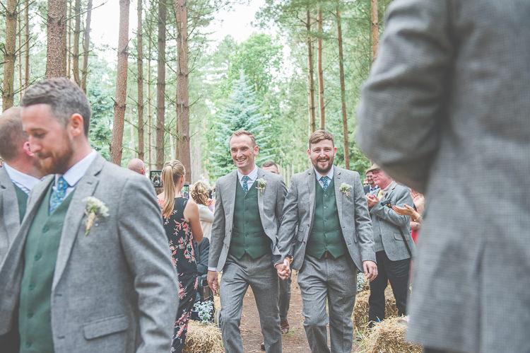 Tweed Groomsmen Green Grey Quirky Natural Woodland Wedding http://lisahowardphotography.co.uk/