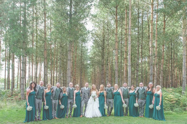 Long Green Bridesmaid Dresses Quirky Natural Woodland Wedding http://lisahowardphotography.co.uk/