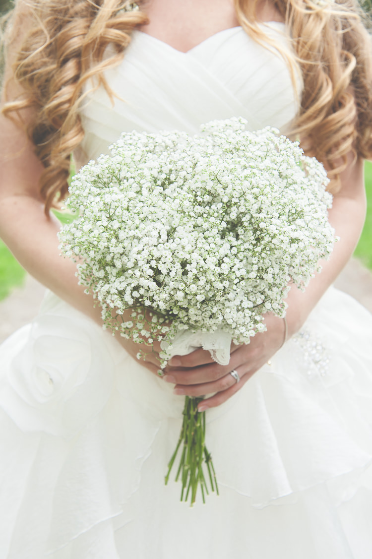 Gypsophila Baby Breath Bouquet Flowers Bride Bridal Heart Quirky Natural Woodland Wedding http://lisahowardphotography.co.uk/