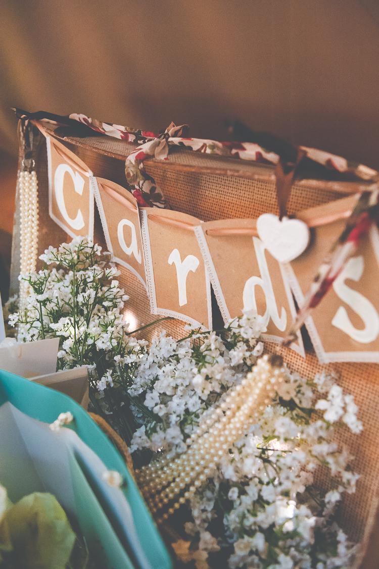 Card Suitcase Quirky Natural Woodland Wedding http://lisahowardphotography.co.uk/