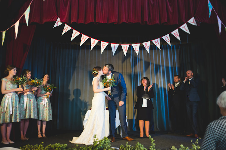 Custom Bunting Personalised Autumn Kentish Village Hall Wedding http://www.livvy-hukins.co.uk/
