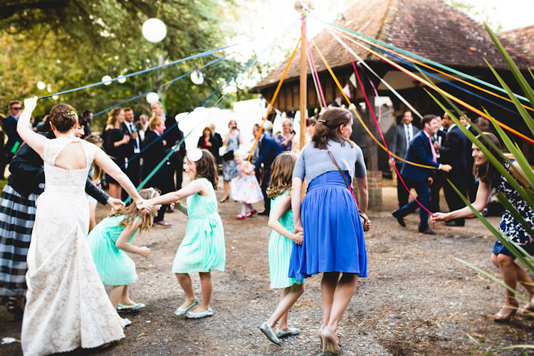 May Pole Dancing Autumn Kentish Village Hall Wedding http://www.livvy-hukins.co.uk/