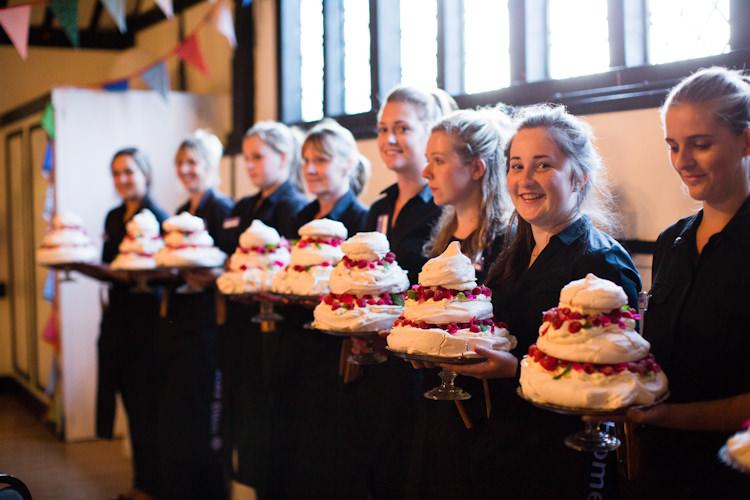 Pavlova Dessert Cake Autumn Kentish Village Hall Wedding http://www.livvy-hukins.co.uk/