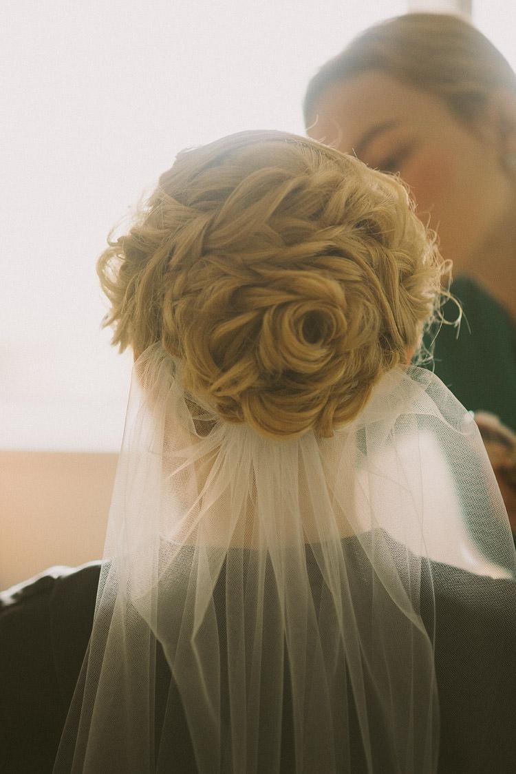 Bride Hair Bridal Up Do Style Veil Mint Chemistry Outdoor Wedding Estonia http://sokkphoto.com/