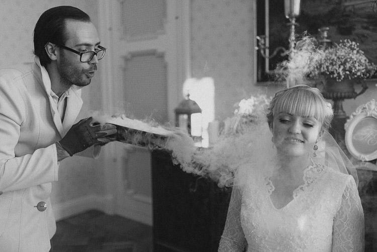 Liquid Nitrogen Entertainment Mint Chemistry Outdoor Wedding Estonia http://sokkphoto.com/