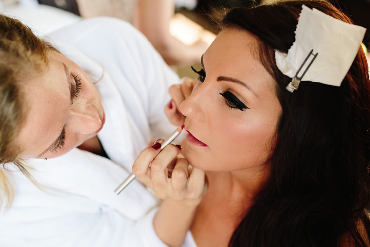 Make Up Bride Bridal Eyeliner Red Lip Chic Hollywood Glamour Wedding http://www.kategrayphotography.com/