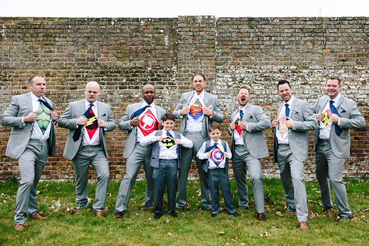 Super Hero T Shirt Groomsmen Chic Hollywood Glamour Wedding http://www.kategrayphotography.com/