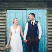 Indie Low Key Hand Made Back Garden Wedding