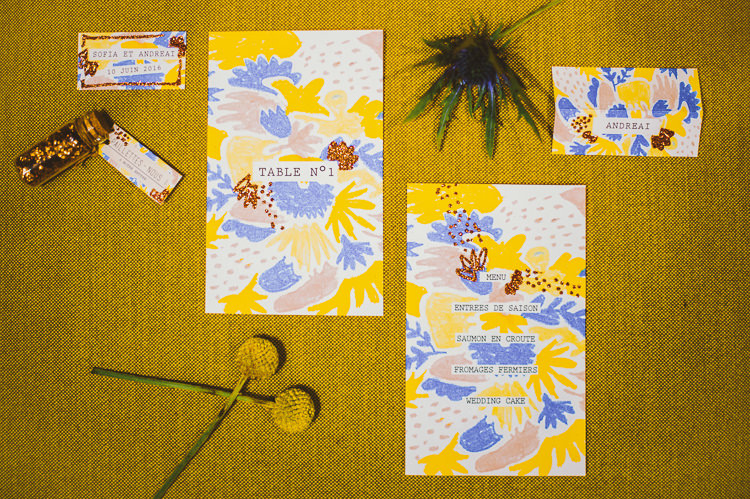 Yellow Pink Blue Stationery Invitations Whimsical Vibrant Multicolour Wedding Ideas http://hecapture.fr/