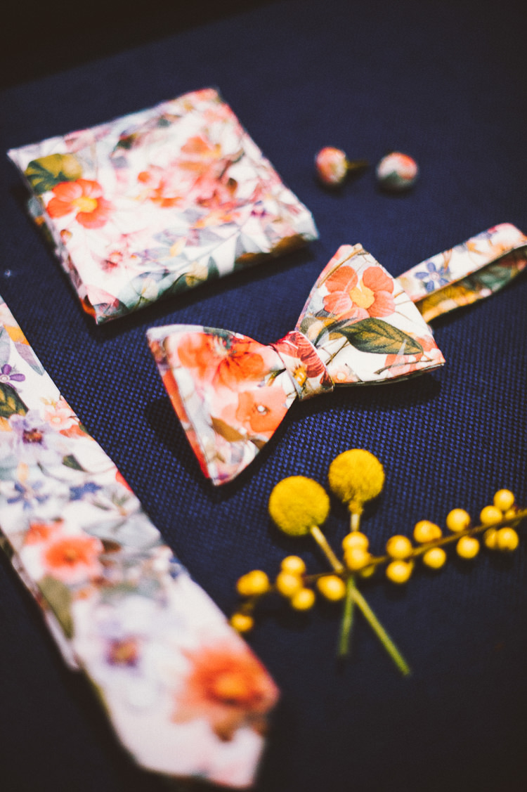 Floral Groom Accessories Whimsical Vibrant Multicolour Wedding Ideas http://hecapture.fr/