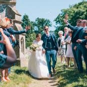 Pretty Peach & Happy Summer Marquee Wedding