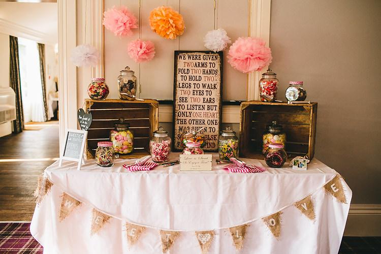 Wedding Pom Pom Ideas Backdrop Sweets http://storry.co.uk/