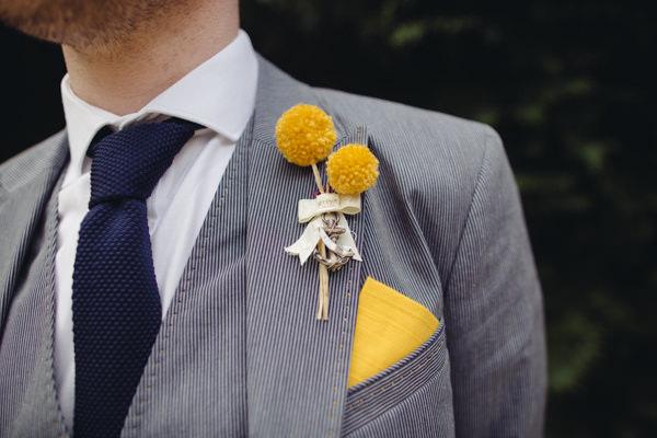 Wedding Pom Pom Ideas Buttonhole Groom http://www.lucylittle.co.uk/