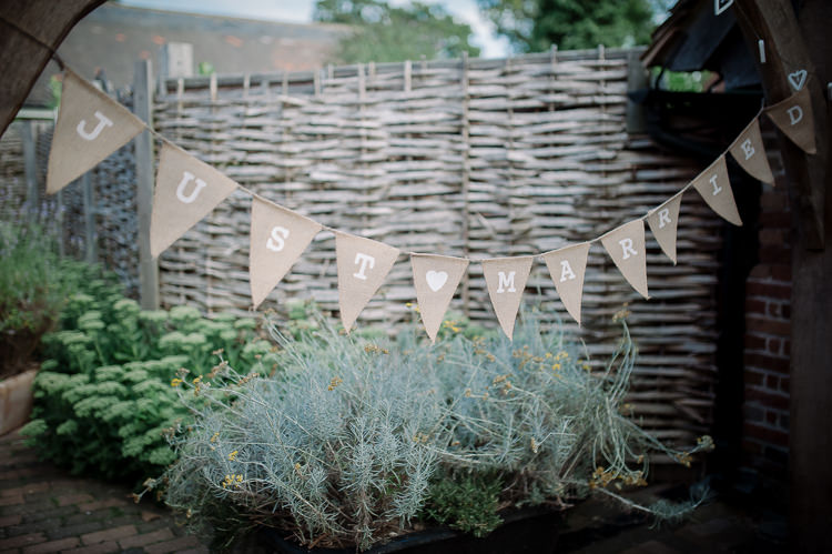 Personalised Hessian Wedding Bunting Ideas Decor Decoration http://andrewbrannanphotography.co.uk/