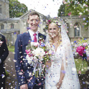 Hand Made Fuchsia & Navy Farm Wedding