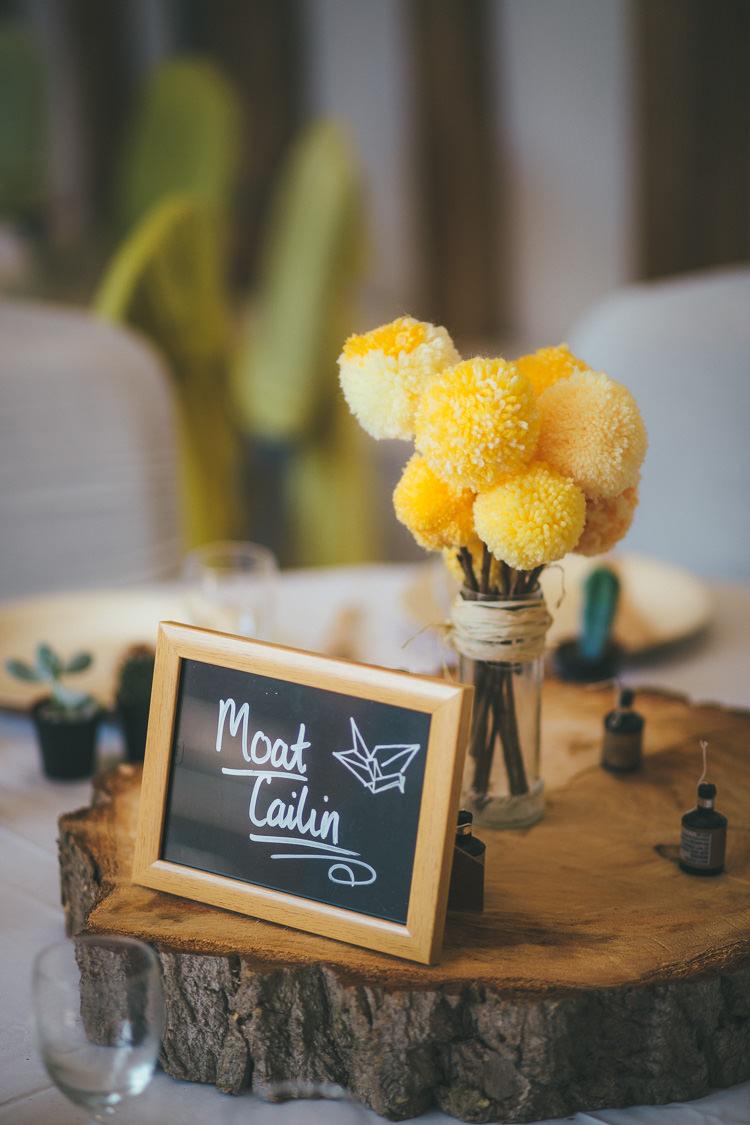 Wedding Pom Pom Ideas Centrepiece Flowers http://www.brettsymesphotography.co.uk/