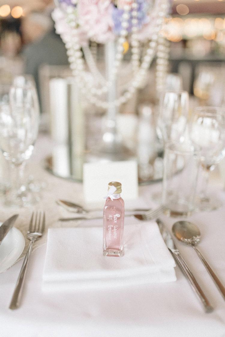 Bottle Liquer Favour Chic Pastel City Wedding http://sarahjaneethan.co.uk/