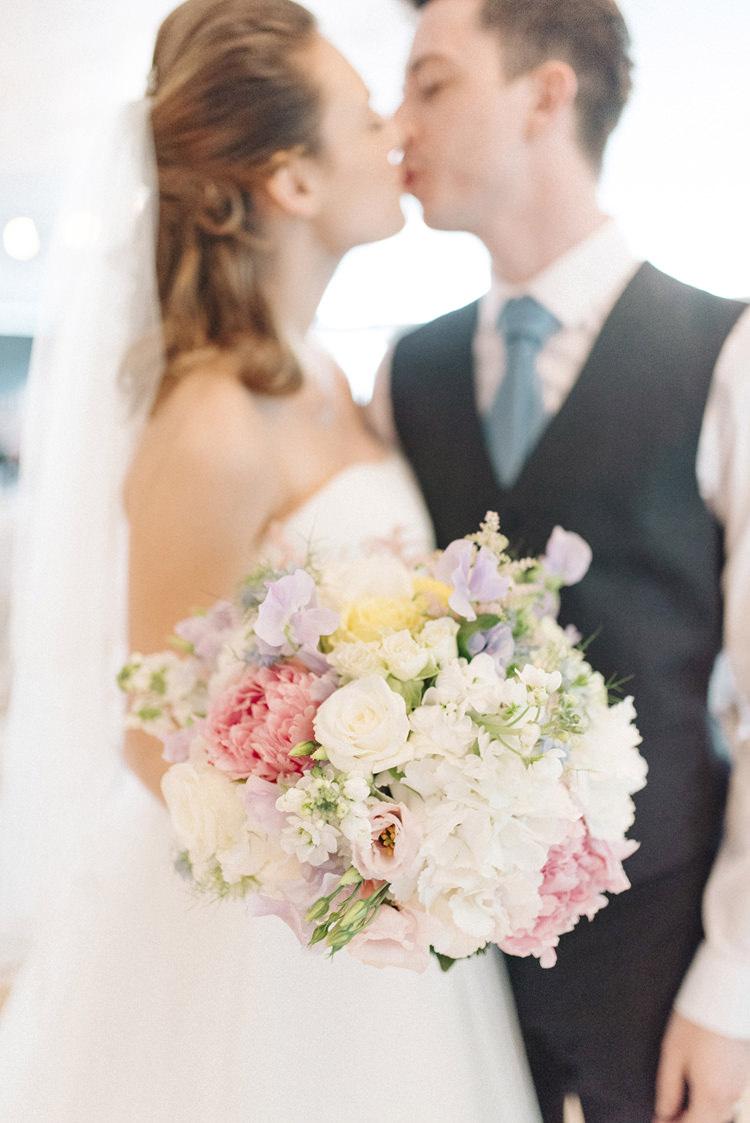 Bouquet Bride Bridal Flowers Pink Yellow Purple Pretty Peony Chic Pastel City Wedding http://sarahjaneethan.co.uk/