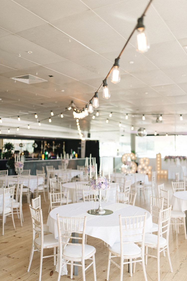 Festoon Lights Letters Lighting Chic Pastel City Wedding http://sarahjaneethan.co.uk/