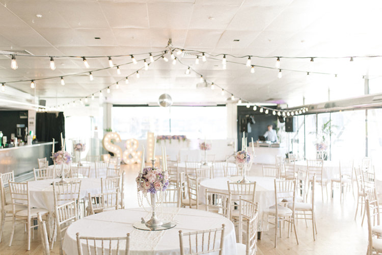 Festoon Lights Letter Lighting Chic Pastel City Wedding http://sarahjaneethan.co.uk/