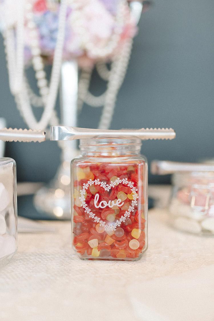 Sweet Sweetie Table Jar Chic Pastel City Wedding http://sarahjaneethan.co.uk/