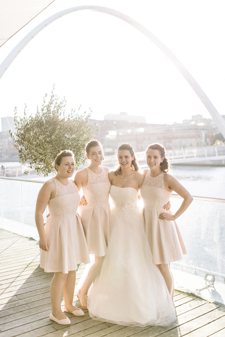 Short Pink Bridesmaid Dresses Chic Pastel City Wedding http://sarahjaneethan.co.uk/