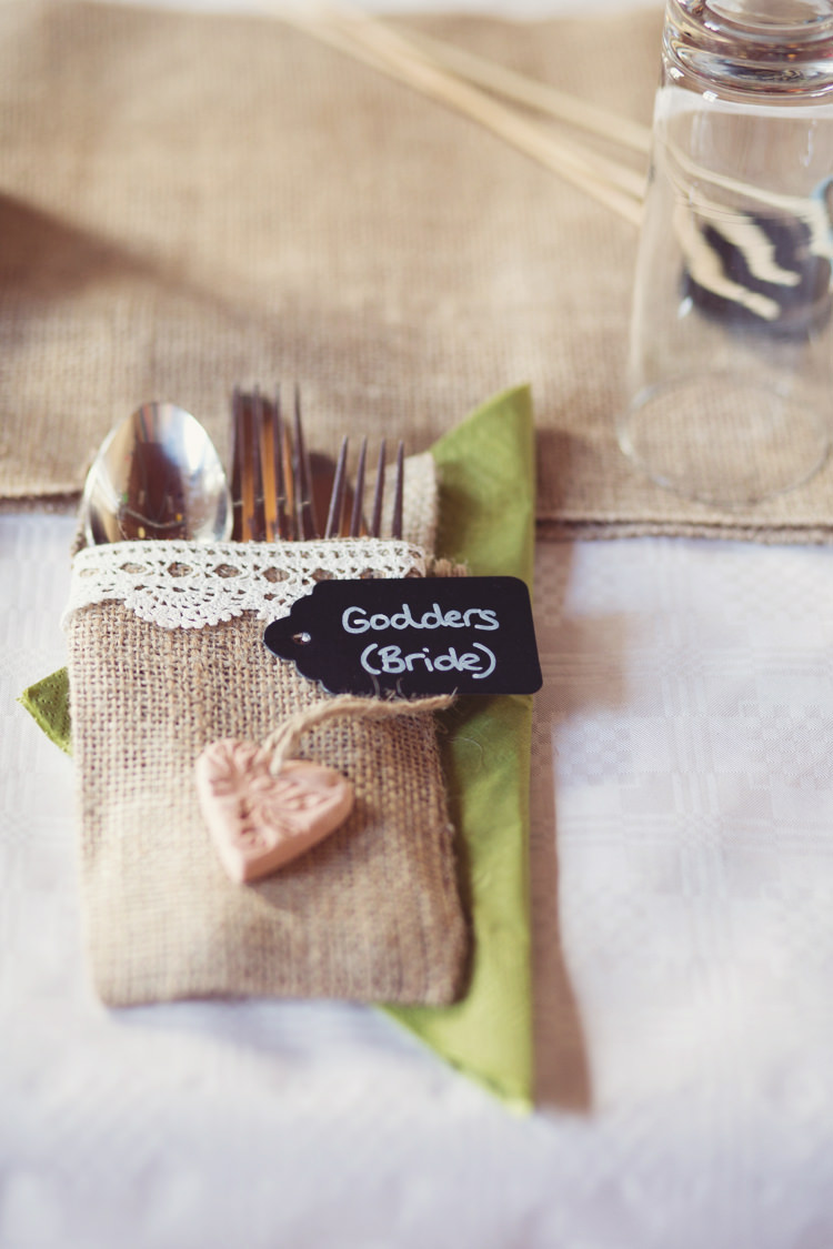 Hessian Cutlery Pouch Colourful Crafty Country Spring Village Wedding http://myfabulouslife.co.uk/