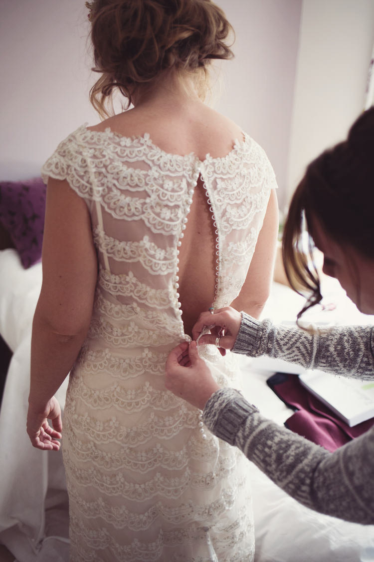 Button Back Dress Gown Bride Bridal Colourful Crafty Country Spring Village Wedding http://myfabulouslife.co.uk/