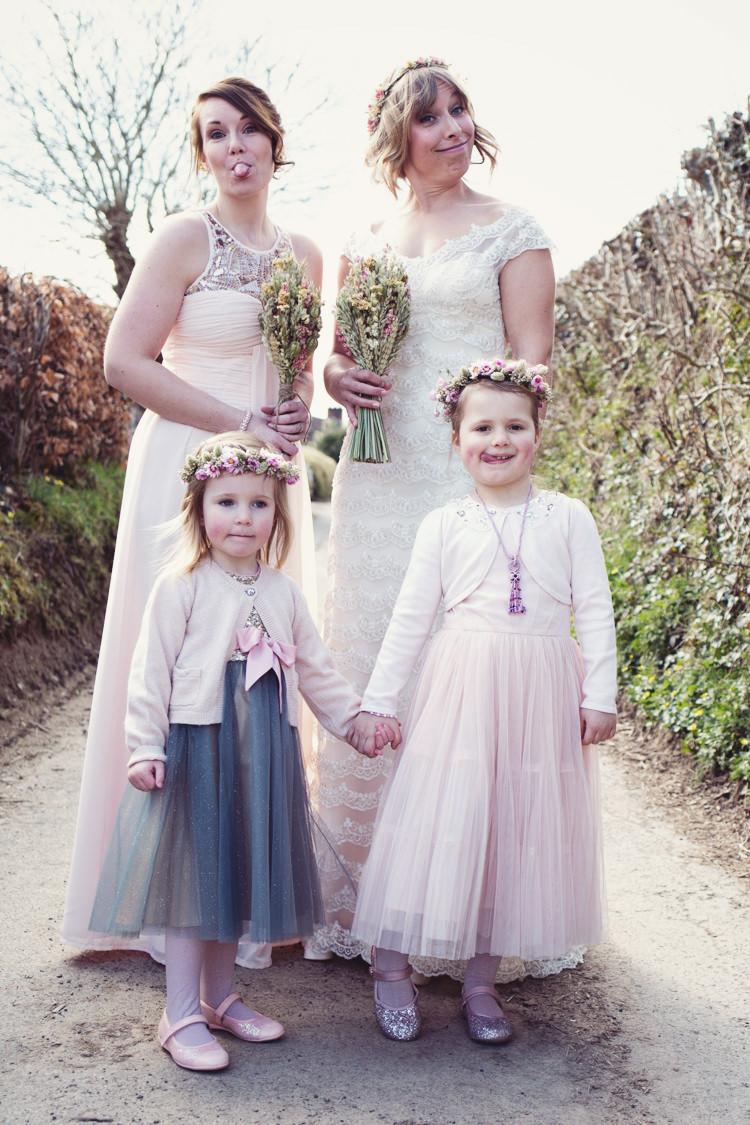 Flower Girls Bridesmaids Colourful Crafty Country Spring Village Wedding http://myfabulouslife.co.uk/