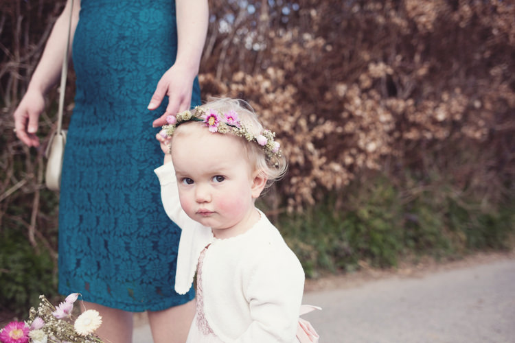 Flower Crown Girl Bridesmaids Colourful Crafty Country Spring Village Wedding http://myfabulouslife.co.uk/