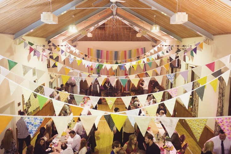 Bunting Colourful Crafty Country Spring Village Wedding http://myfabulouslife.co.uk/