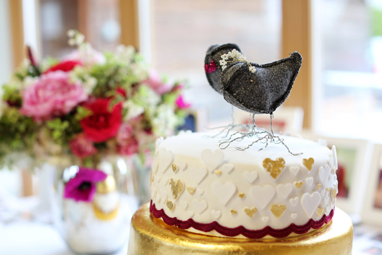 Bird Cake Toppers Colourful Home Made Spring Wedding http://www.jadelisaphotography.com/