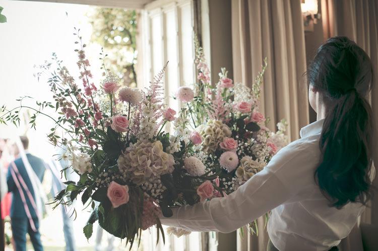 Pink Flowers Arrangements Beautiful Summer Garden Party Wedding http://divinedayphotography.com/