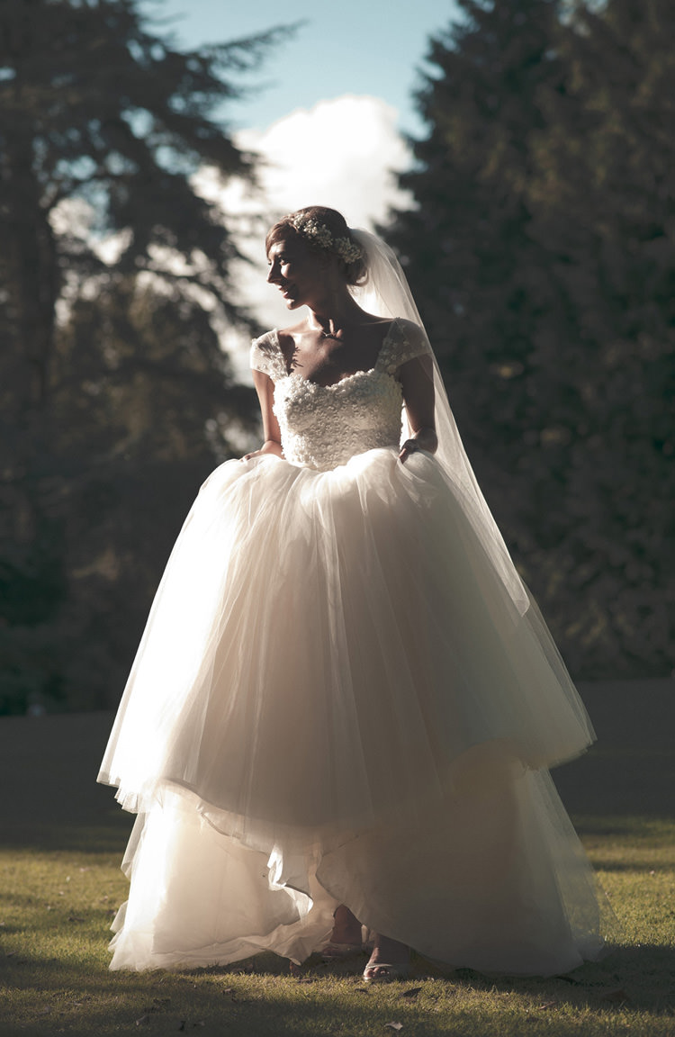 Bluebell Sassi Holford Dress Gown Bride Bridal Beautiful Summer Garden Party Wedding http://divinedayphotography.com/