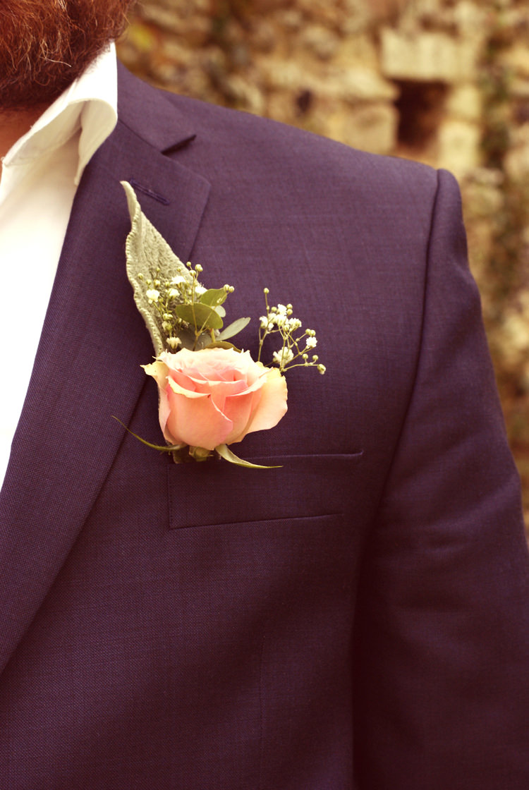 Pink Rose Buttonhole Groom Vintage Country Garden Festival Wedding http://www.kimberleysta-mariaphotography.com/