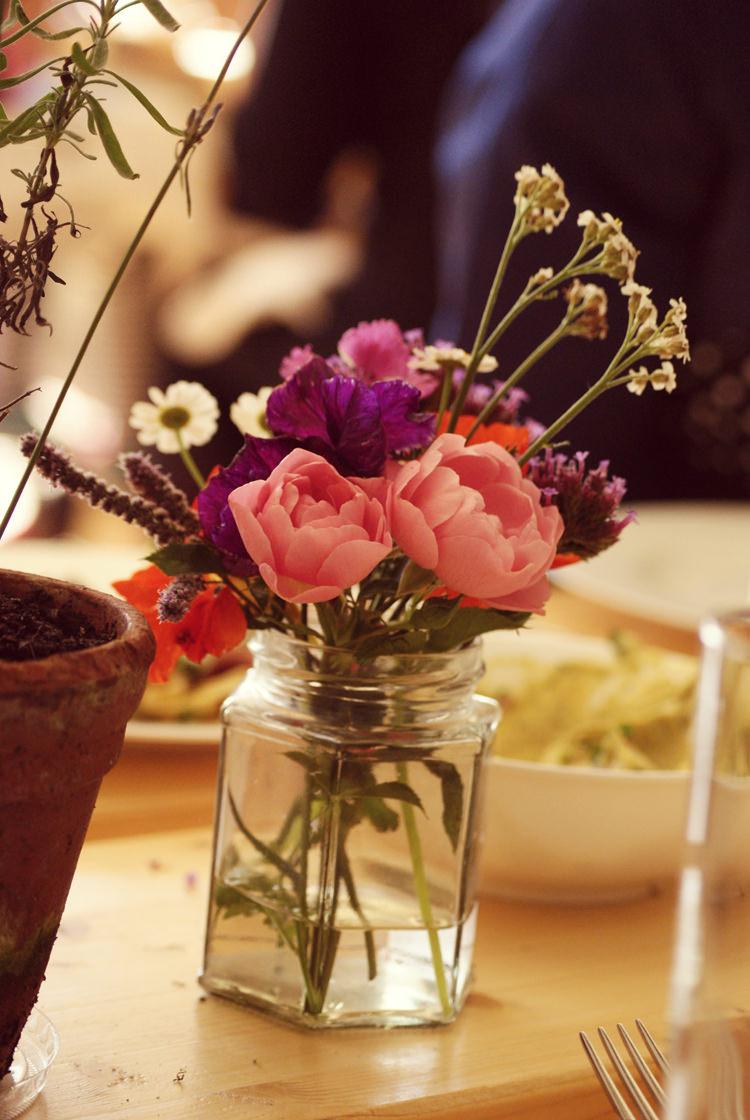 Jar Flowers Peonies Vintage Country Garden Festival Wedding http://www.kimberleysta-mariaphotography.com/