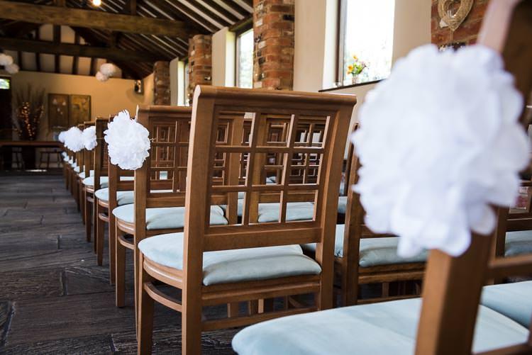 Wedding Pom Pom Ideas Chairs Pew Aisle http://www.jessicagracephotography.com/