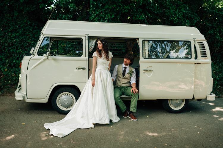 VW Camper Van Bohemian Origami Guernsey Wedding http://janiceyiphotography.ca/