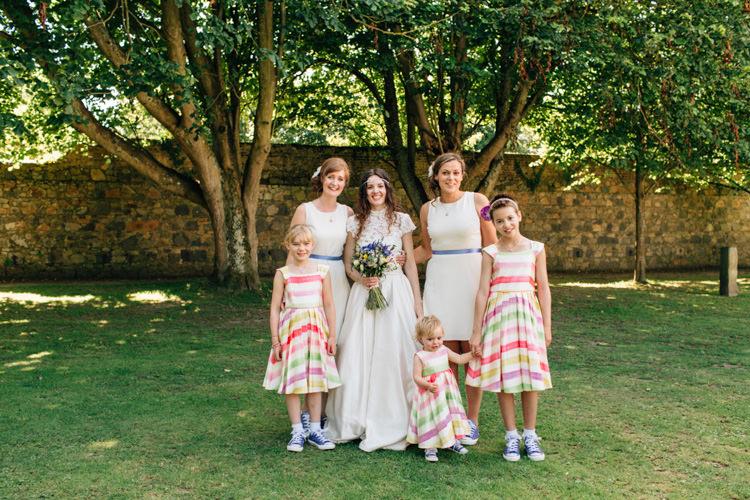 Stripe Flower Girl Dresses Bohemian Origami Guernsey Wedding http://janiceyiphotography.ca/