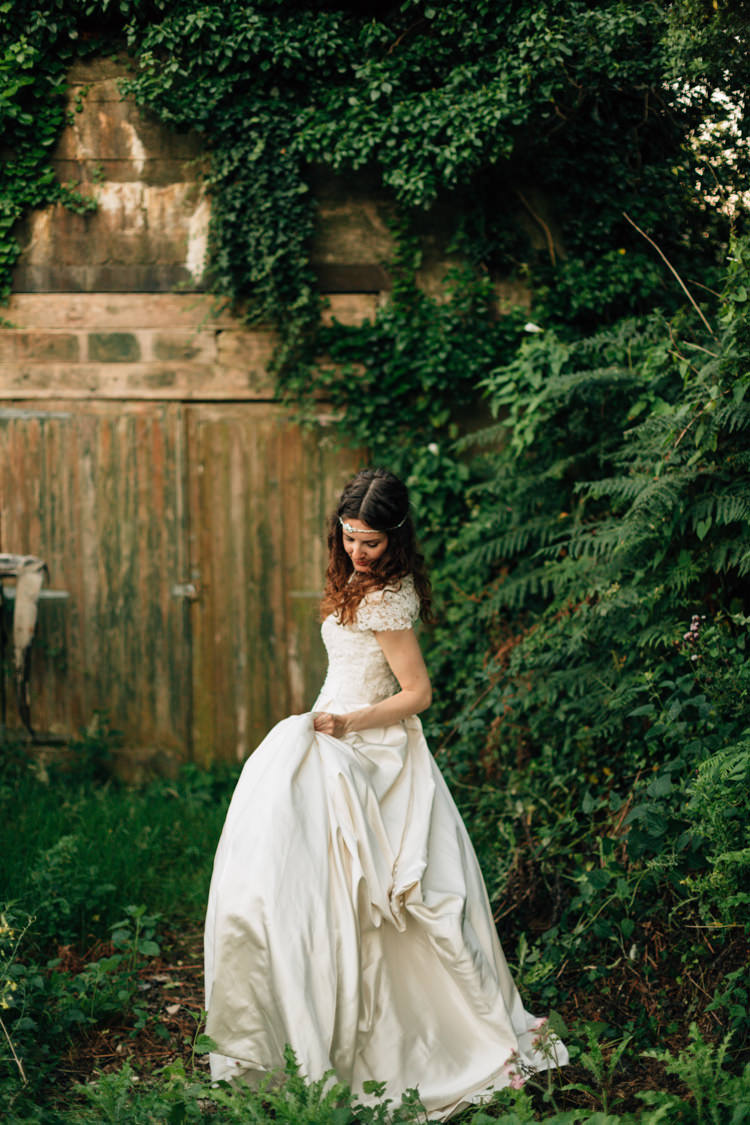 Alfred Angelo Bride Bridal Dress Gown Bohemian Origami Guernsey Wedding http://janiceyiphotography.ca/