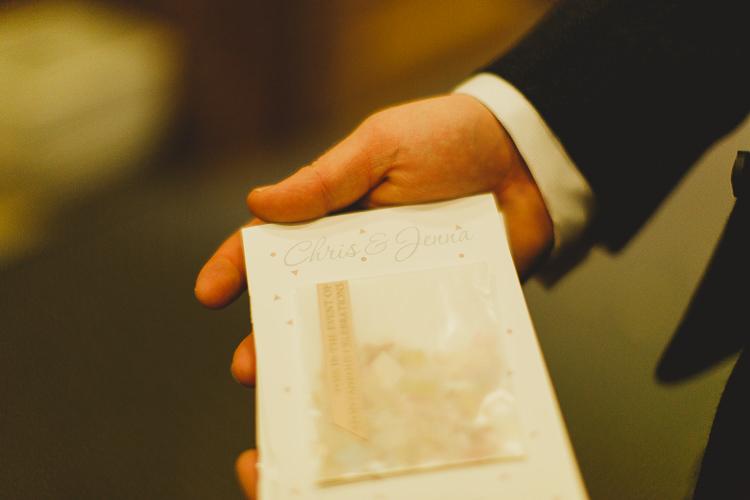 Confetti Envelope Stationery Modern Chic Stylish City Wedding http://photographybymarclawson.com/