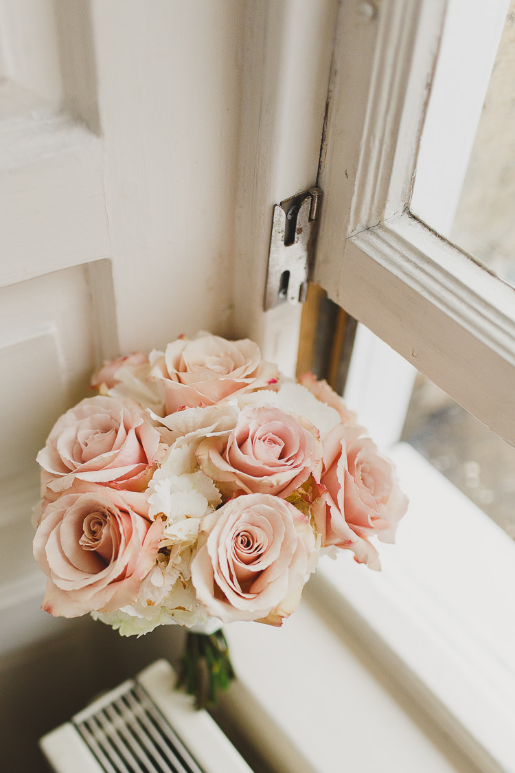 Blush White Rose Hydrangea Bouquet Flowers Modern Chic Stylish City Wedding http://photographybymarclawson.com/