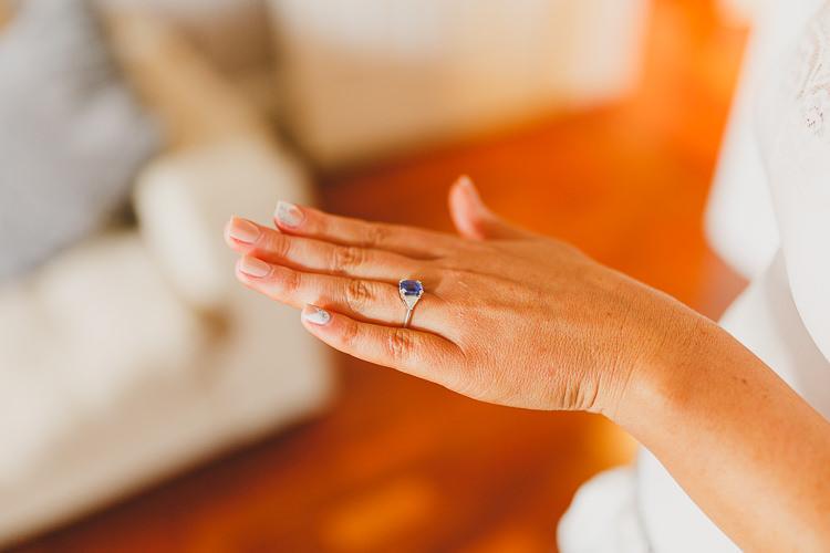 Sapphire Engagement Ring Band Modern Chic Stylish City Wedding http://photographybymarclawson.com/