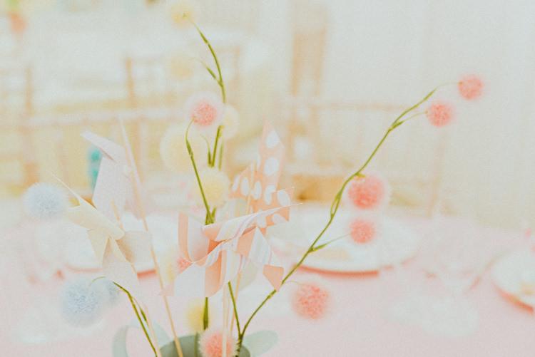 Pom Pom Wedding Table Centrepiece Pastel http://photo.shuttergoclick.com/